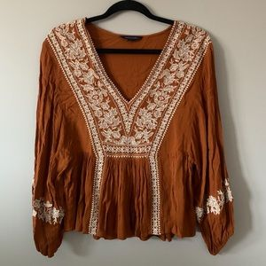 American Eagle Embroidered Blouse